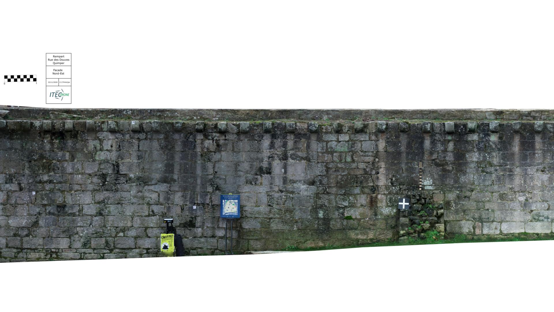 Ortho-façade des remparts